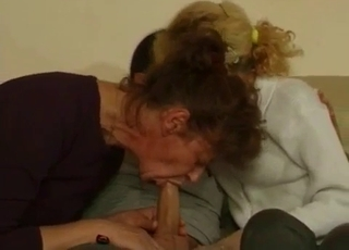 Mommy and her sister are sucking my dick