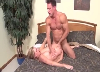 Stepmom with perfect boobs rides on her son