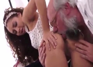 Old man gets nicely sucked by a fresh young cousin