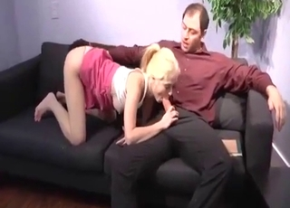 Oral interbreeding with an amazing blonde relative