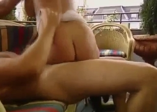 Big-bottomed brunette jumps on her brother