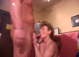 Impressive doggy style fuck with a hot mom