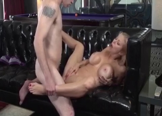 Banging my hot stepmother on the black sofa