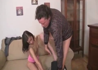 Filthy dad want to fuck his daughter so much